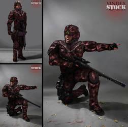 SCI FI Soldier STOCK I by PhelanDavion