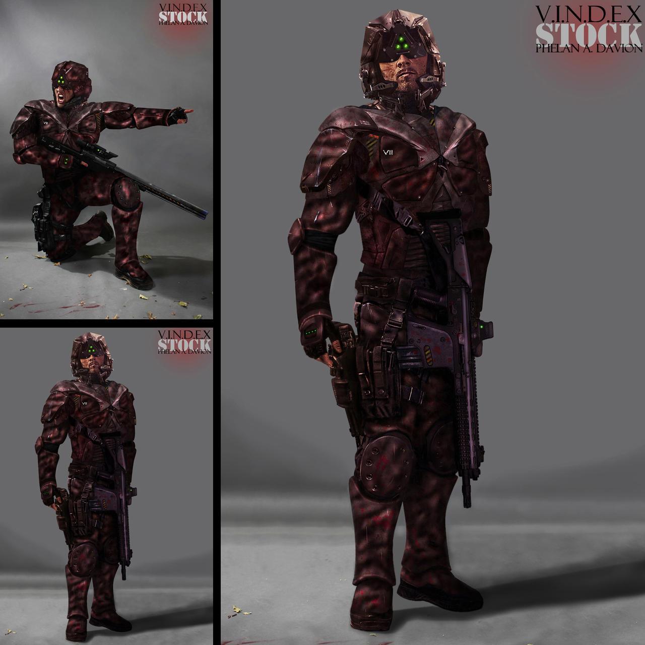 SCI FI Soldier STOCK II by PhelanDavion