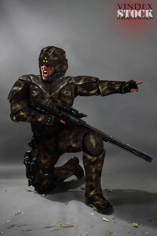 SCI FI Soldier STOCK I - Green Version by PhelanDavion
