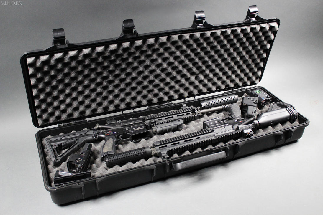 2x HK416 in Rifle Case by PhelanDavion