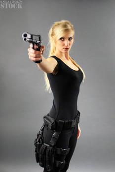 Kayla Gun Pose Reference STOCK V