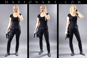 Kayla Telephone Pose Reference STOCK I by PhelanDavion