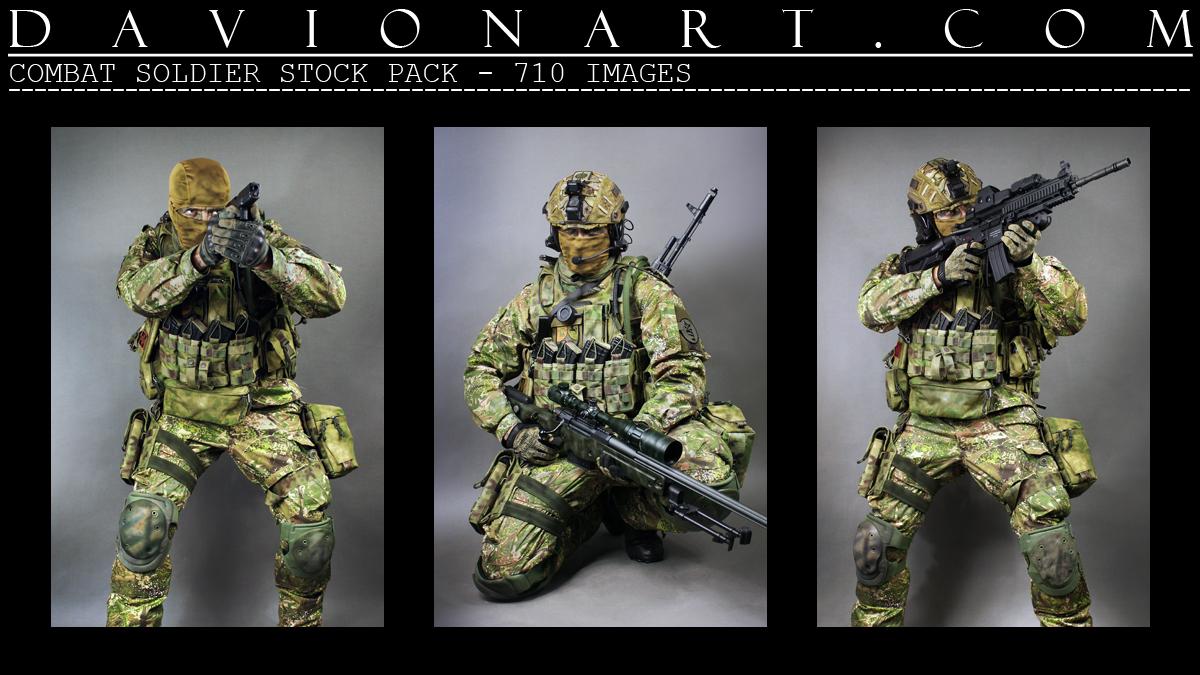 Combat Soldier Stock Pack