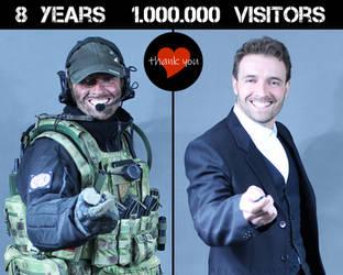 1 MILLION VISITORS - THANK YOU by PhelanDavion