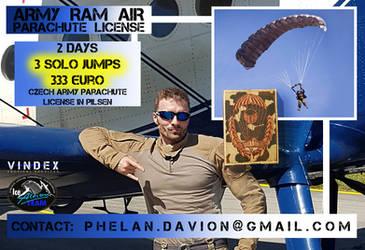 ARMY RAM AIR PARACHUTE LICENSE - SPRINGERABZEICHEN by PhelanDavion