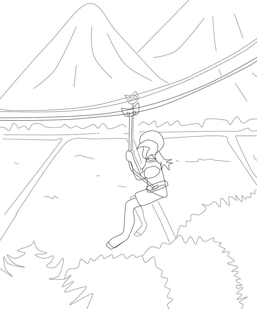 D Line Drawings Zip : Zipline sketch by newbiemachiko on deviantart