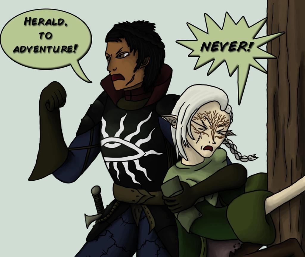 DA: Elfquisition - To Adventure! by Silfae