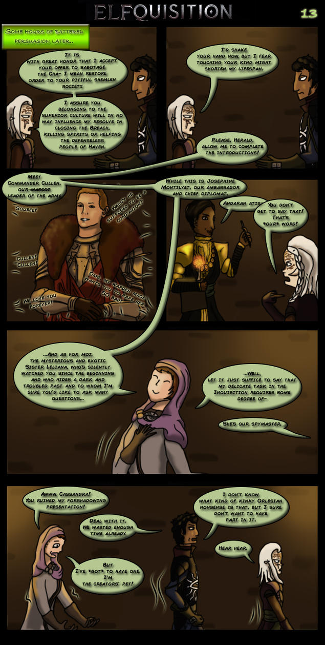Dragon Age: Elfquisition - Page 13 by Silfae