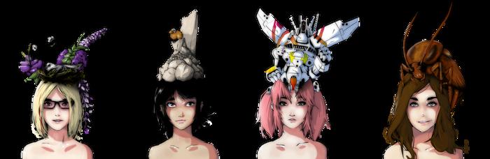 The Many Types of Head