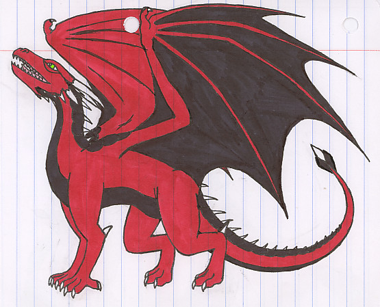 Red and Black Dragon by DraconicNosferatu on deviantART