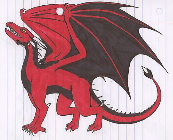 Red and Black Dragon by DraconicNosferatu on deviantART