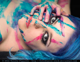 Blue and Pink Paint III