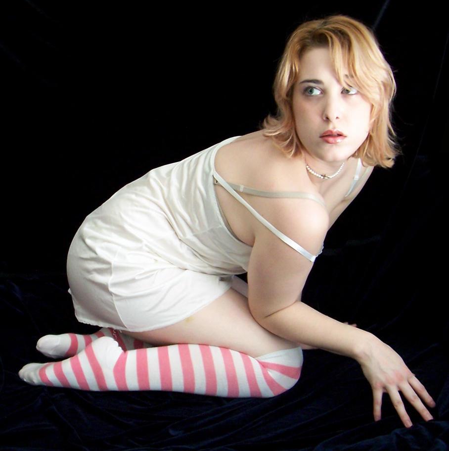 Pink Striped Socks V by fetishfaerie-stock