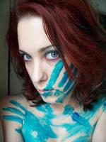 Blue Paint XVI by fetishfaerie-stock