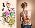 Oriental Bodypaint Backpiece