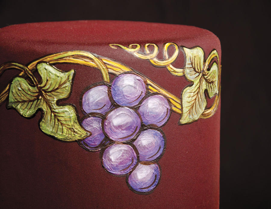 Grapes Cocoa Butter Painting By Battledress On Deviantart