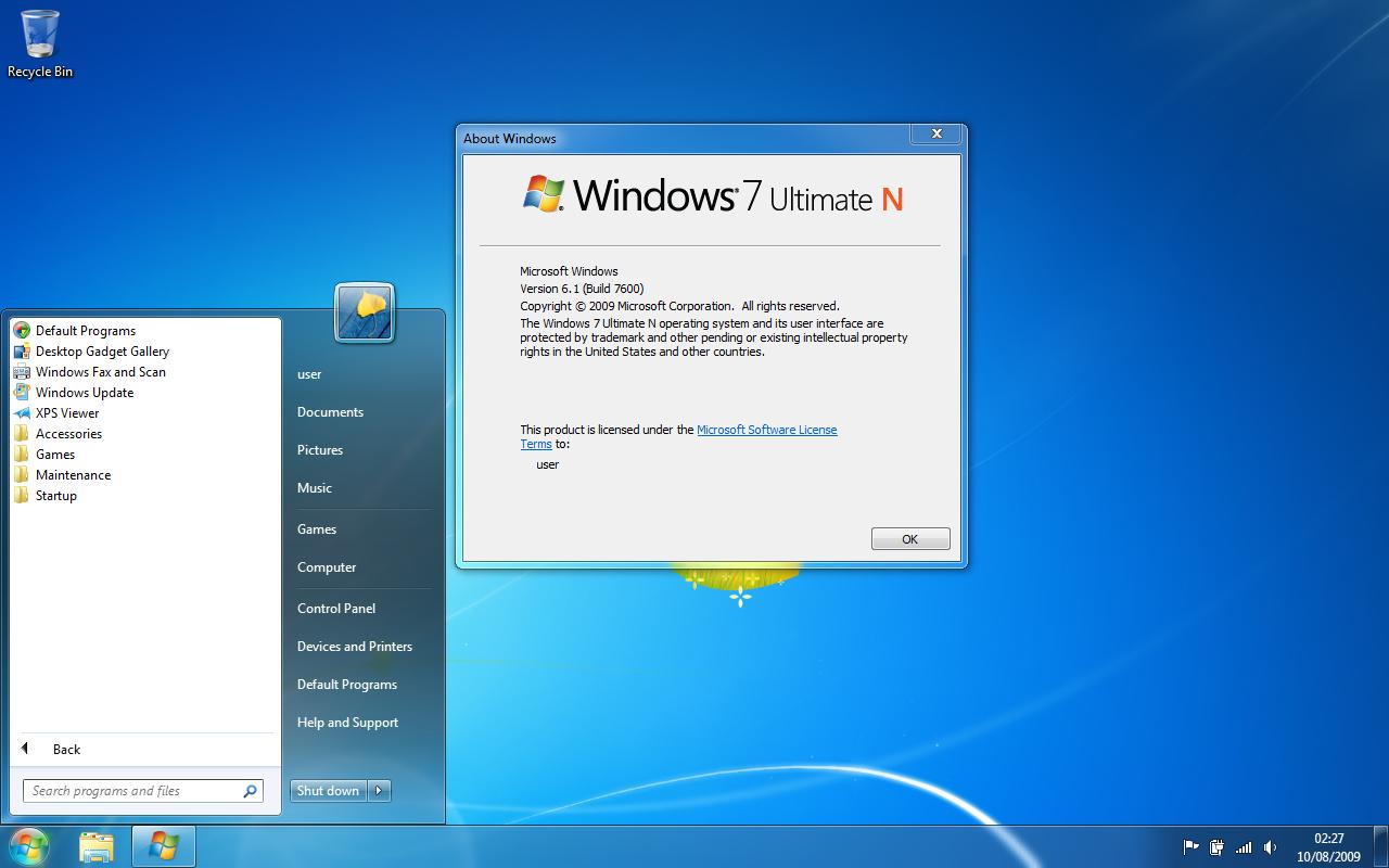 Windows 7 N RTM by Quick-Stop on DeviantArt