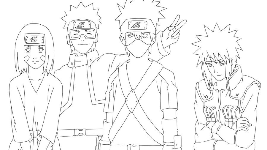 Minato\'s Team Lineart by synyster-gates-A7X on DeviantArt