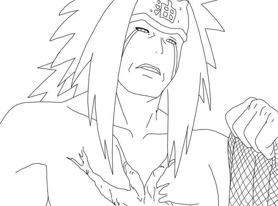 Orochimaru x jiraiya sketch coloring page for Jiraiya coloring pages