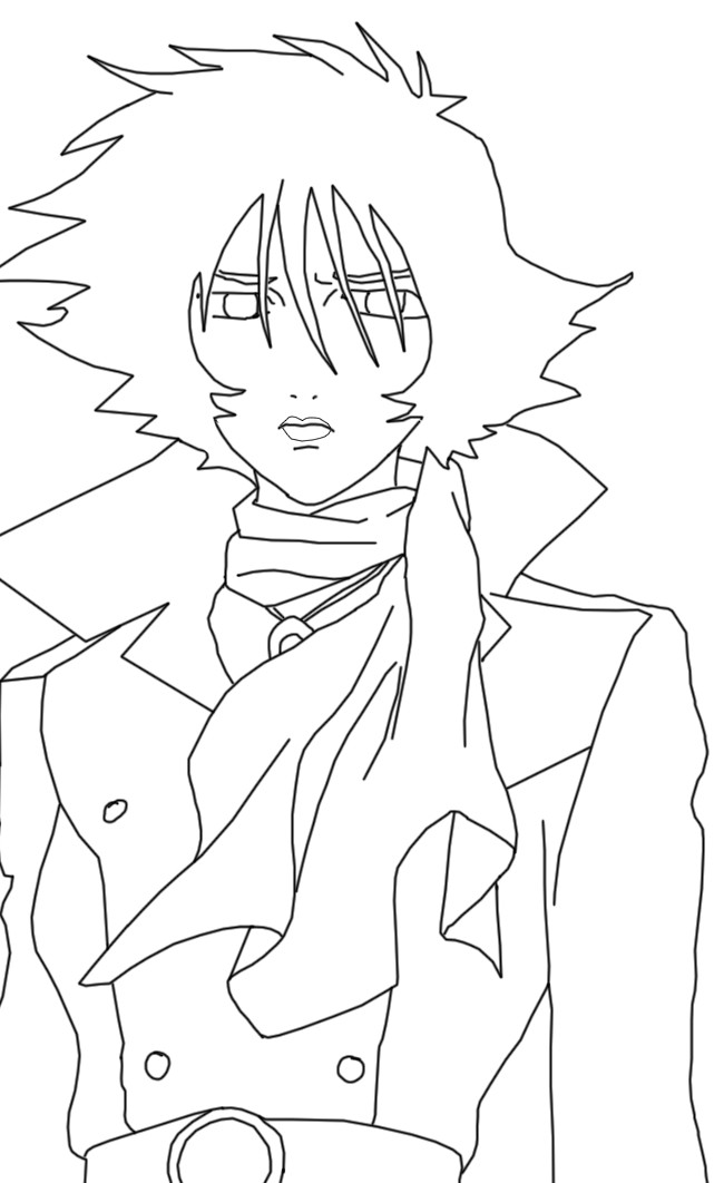 wolf rain coloring pages - photo#18