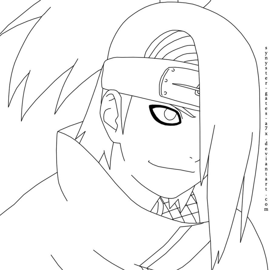 Deidara Pages Coloring Pages