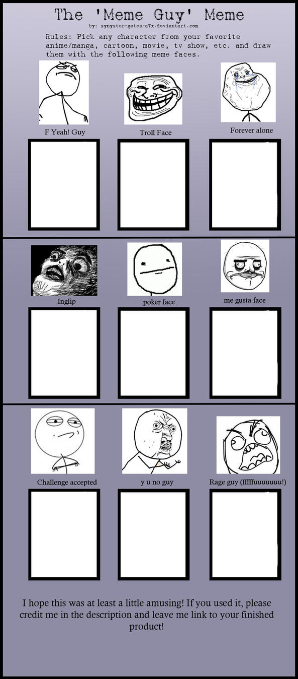 Rageface meme BLANK by synyster-gates-A7X