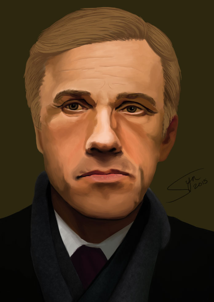 Christoph Waltz Portrait by synyster-gates-A7X