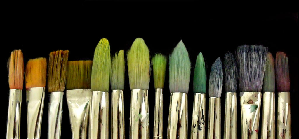 Old Paint Brushes By XSweetSlayerx