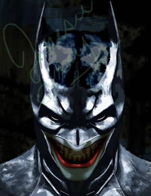 Joking Batman by jenesee