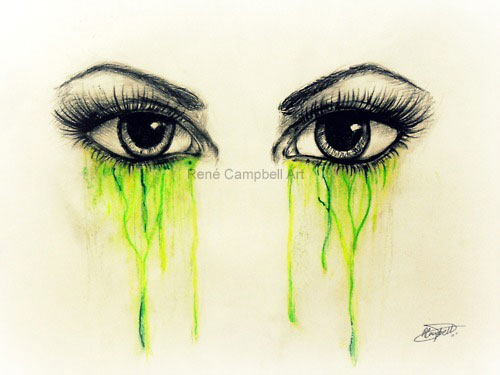Eye Sketch by ReneCampbellArt