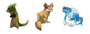 Realistic Pokemon Sketches: Gen 6 Starters