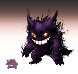 Realistic Pokemon: Gengar by ReneCampbellArt
