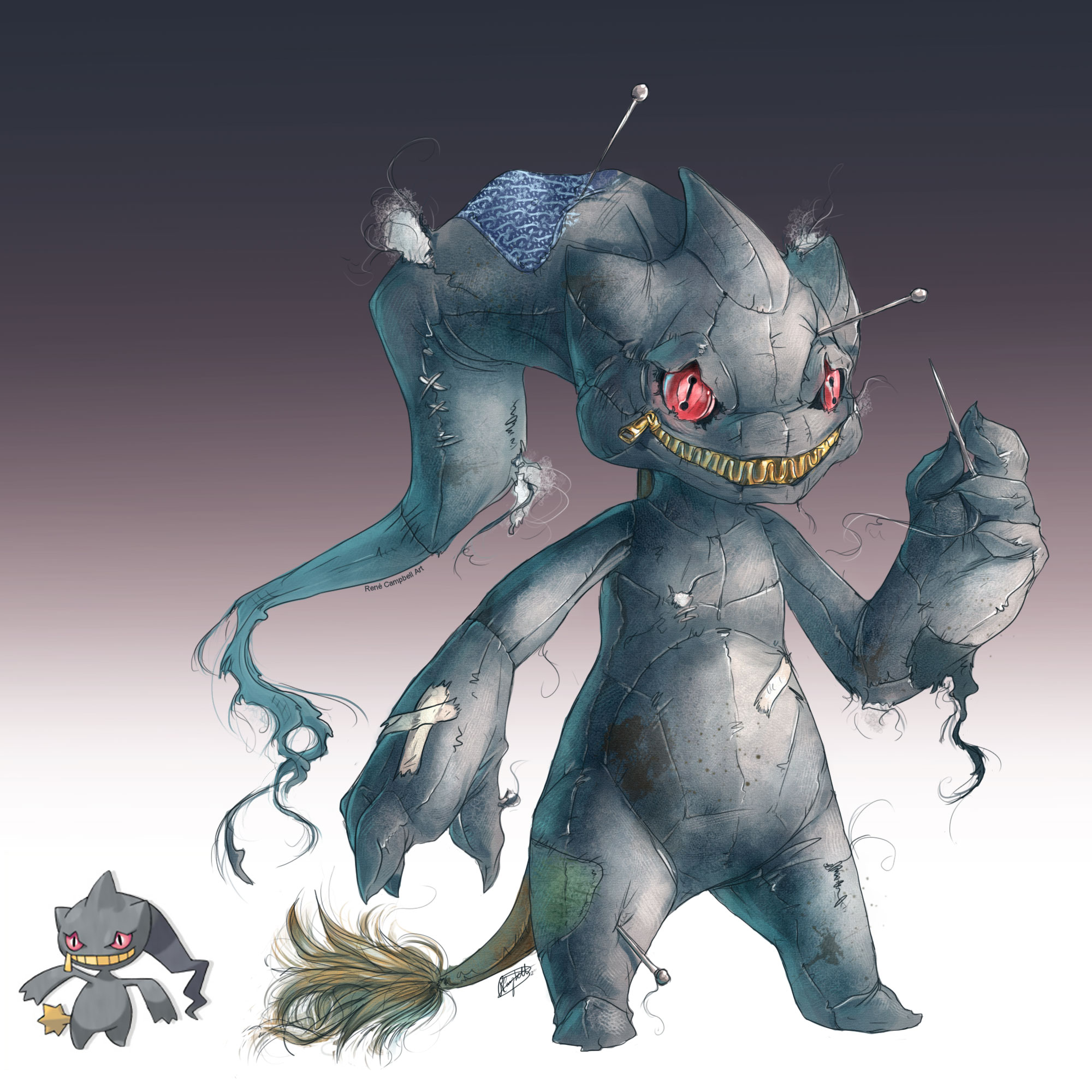Realistic Pokemon: Banette by ReneCampbellArt