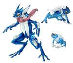 Realistic Pokemon: Froakie Evolution Line
