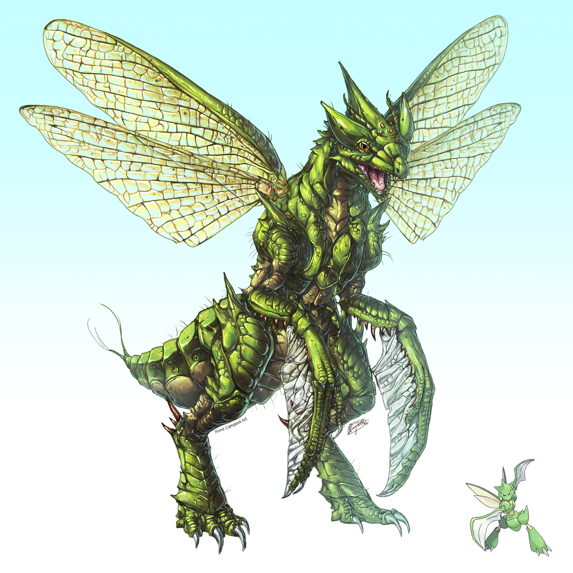 Realistic Pokemon: Scyther