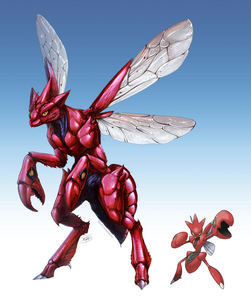 Realistic Pokemon Scizor By ReneCampbellArt On DeviantArt