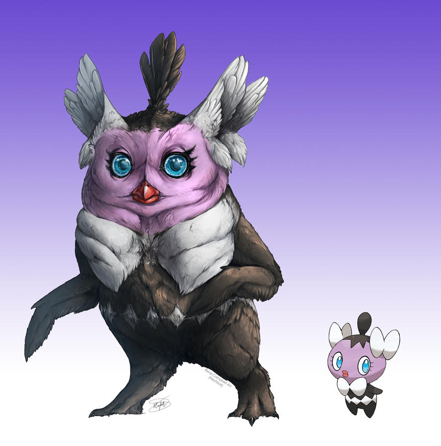 Realistic Pokemon: Gothita by ReneCampbellArt