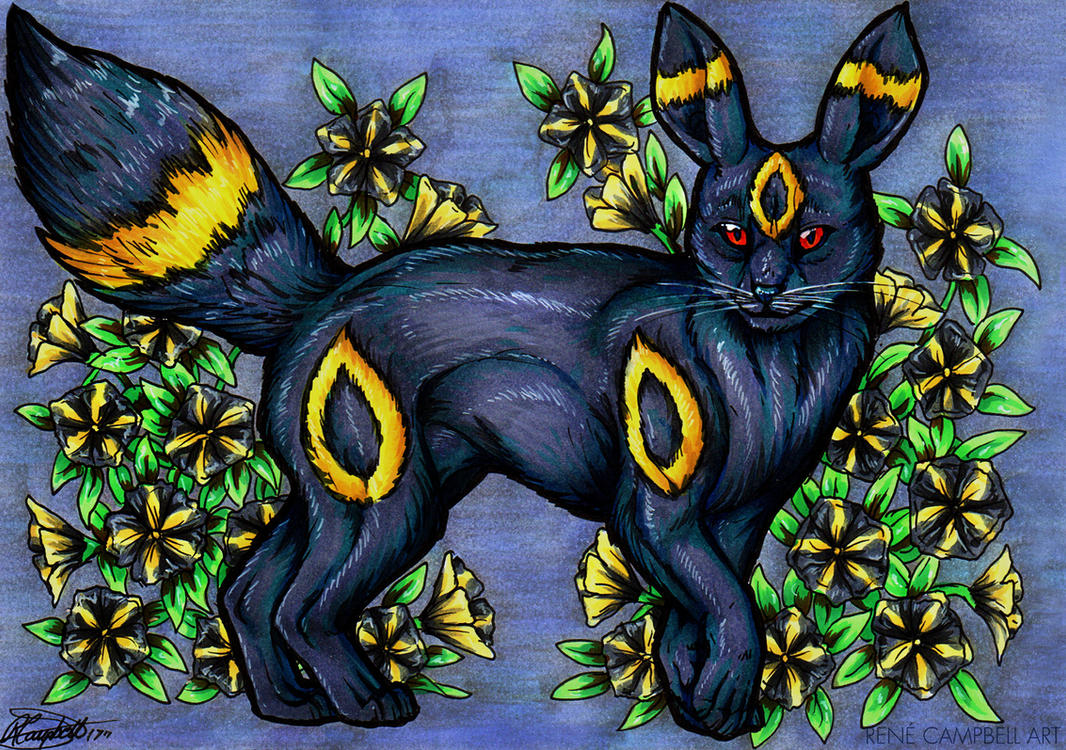 Evolve the Rainbow - Umbreon by ReneCampbellArt