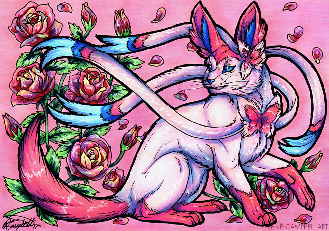 Eeveelutions-Sylveon by ReneCampbellArt