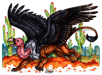 Day 19: Lion Vulture by ReneCampbellArt