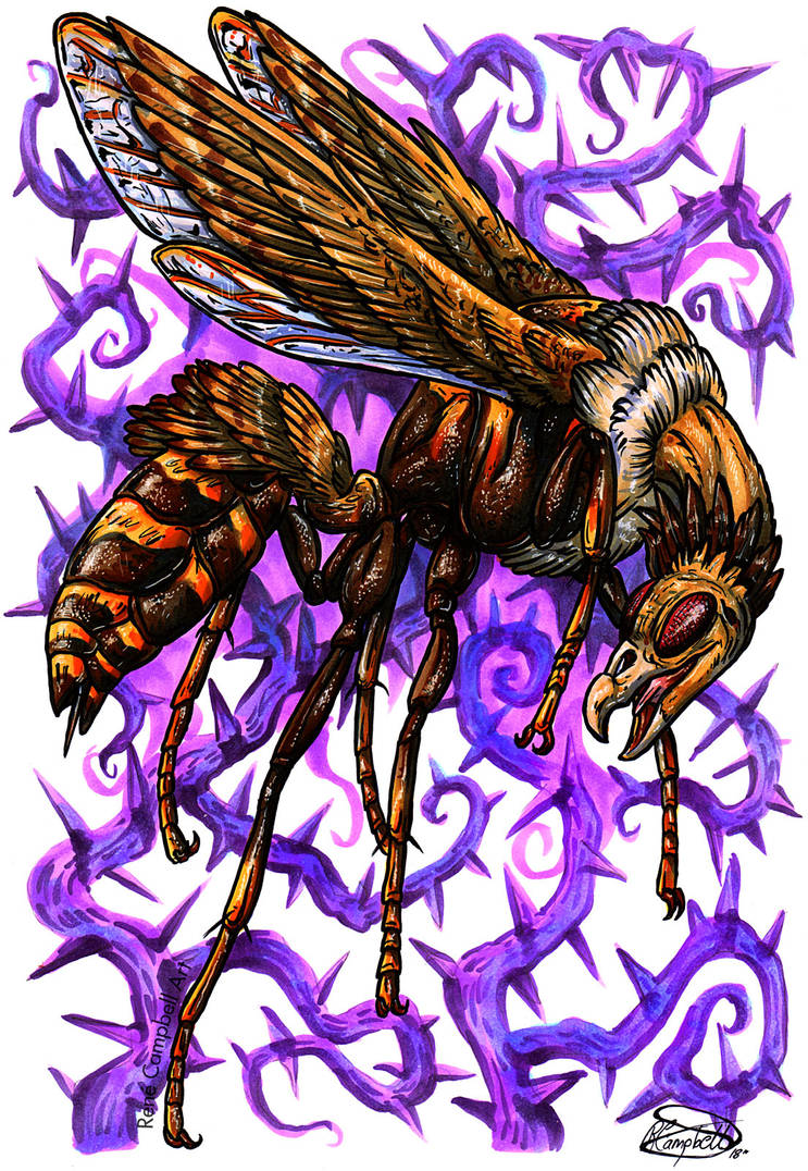 Day 28: Buzzard Wasp by ReneCampbellArt