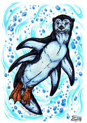 Day 30: Otter Penguin by ReneCampbellArt