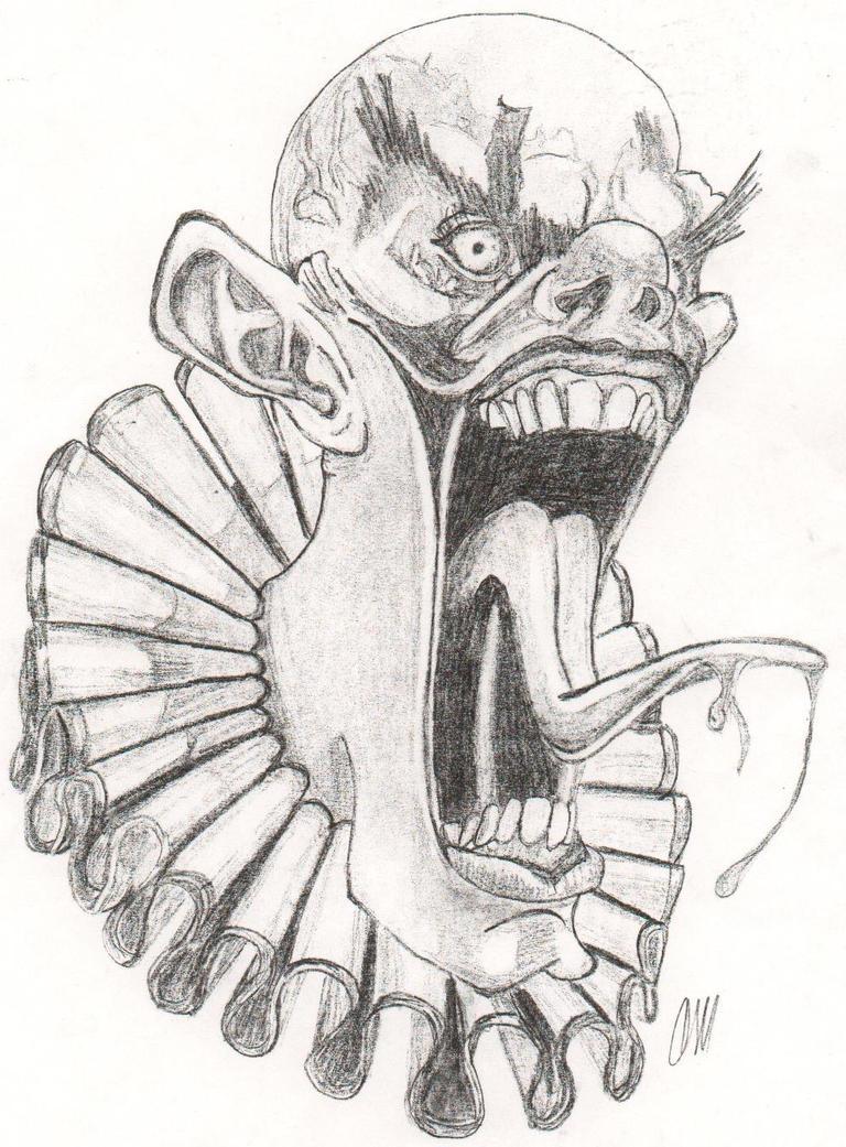 evil clown by cagedspirit on DeviantArt