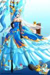 Brave Frontier Fanart: No.8008 Gun Goddess Serin
