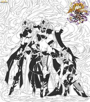Brave Frontier Fanart Shadow Dragon Goddess Kagura