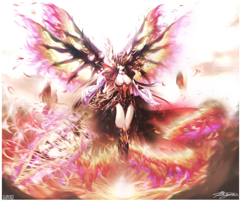 Brave Frontier Fanart: Phoenix Wings goddess Lava