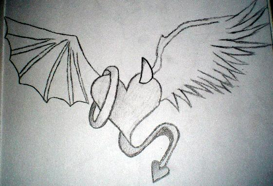 Gallery images and information devil and angel drawing