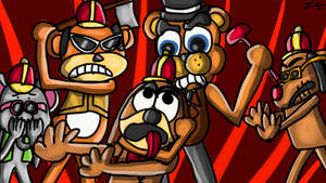 Freddy Fazbear vs The Banana Splits