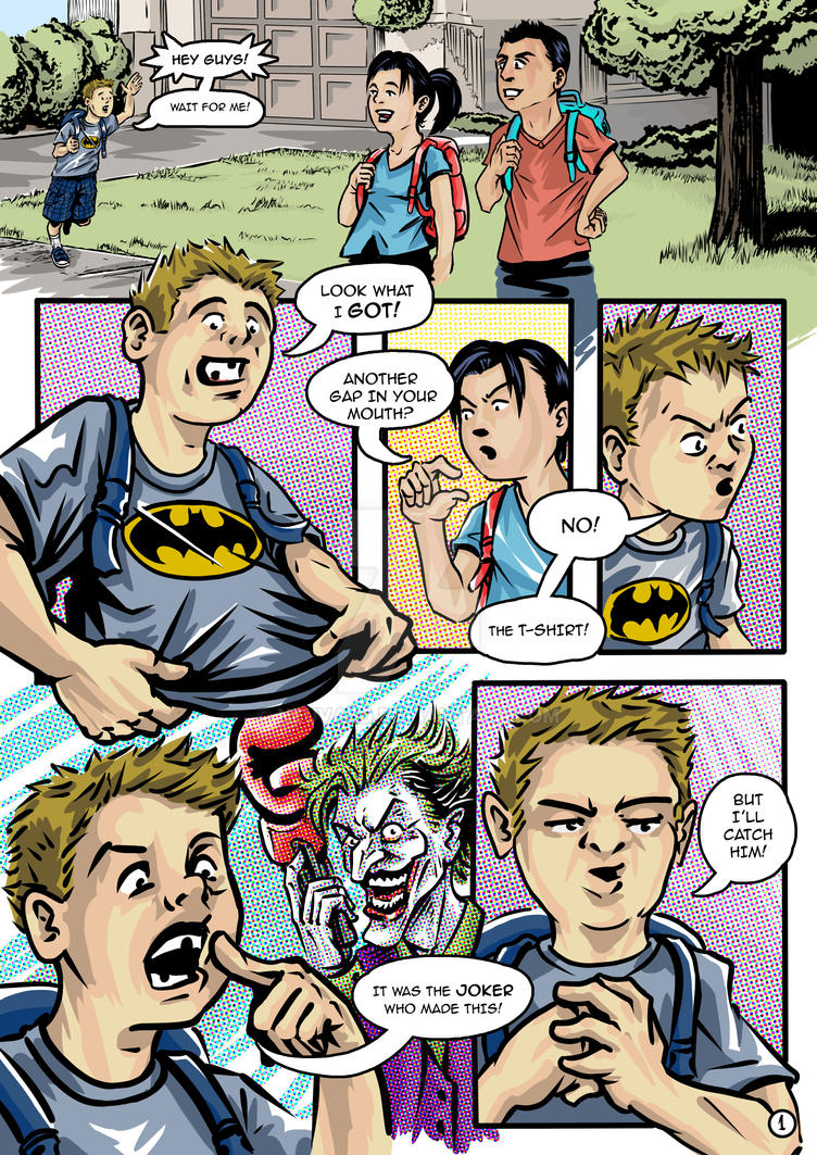 JUSTICE KIDS - Pg. 1- Colors by neuvald