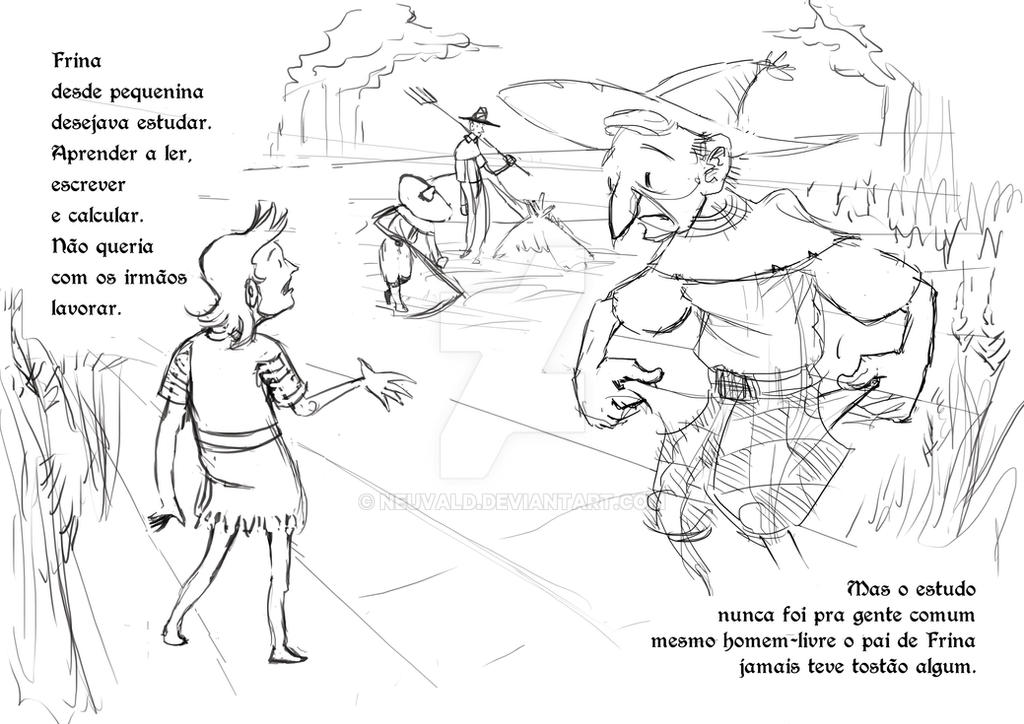 Frina's Tales - Sketch pg 1-2 by neuvald